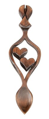 Guardian Angel Lovespoon (Two Hearts) - 038a
