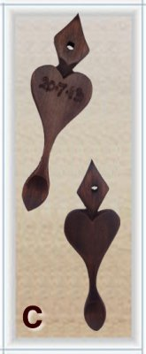 Mini Lovespoon Wedding Favours C (more than 40) - FAV-C