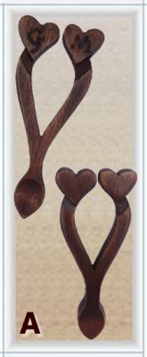 Mini Lovespoon Wedding Favours A (more than 40) - 40A