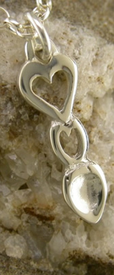 Heart Love Spoon Pendant (Silver) - 052a