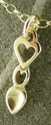 Heart Love Spoon Pendant (Gold) - 052b