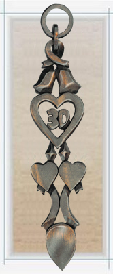 Chain of Love 30th Anniversary Love Spoon - 021a