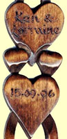 Engraving Welsh Love Spoons